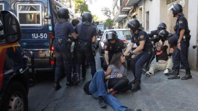 Imagen de archivo de un desalojo en Madrid.
