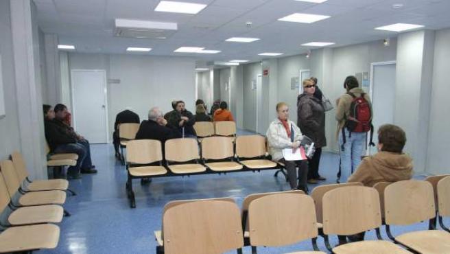 Sala de espera de un centro de salud.