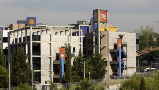 Un edificio de RTVE en Prado del Rey, en Madrid.