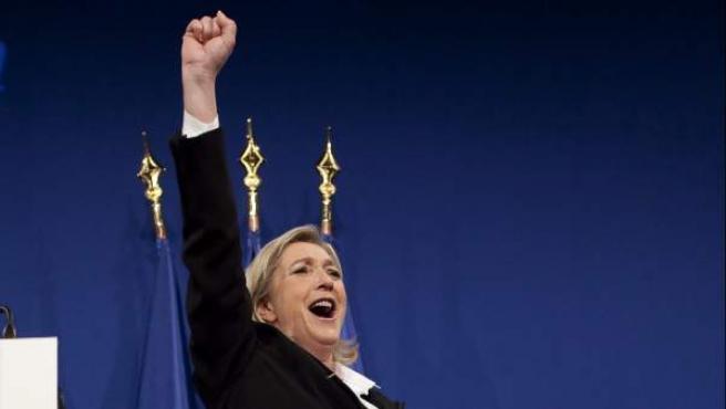 La secretaria del partido de ultraderecha Frente Nacional (FN) Marine Le Pen.
