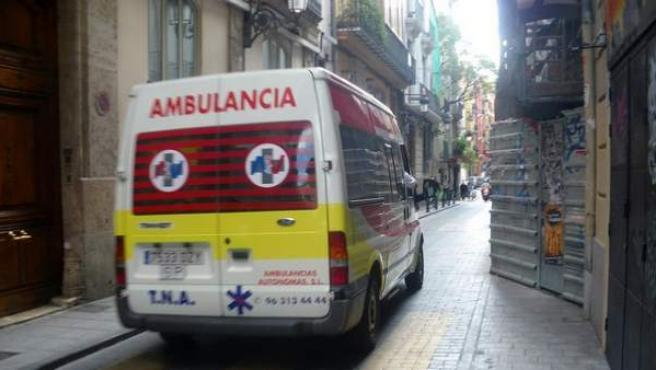 Una ambulancia TNA (Transporte no asistido).