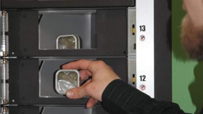 Una máquina expendedora de marihuana de la empresa Dispense Labs.