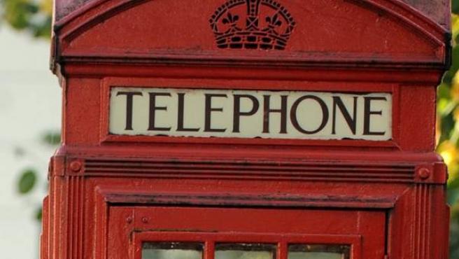 La clásica cabina telefónica de Londres.