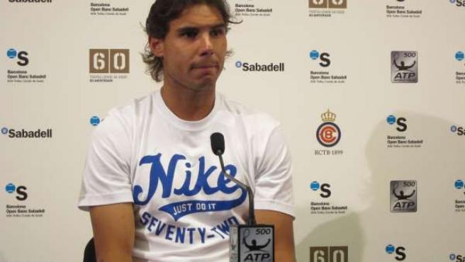 Rafael Nadal En Rueda De Prensa Del Godó