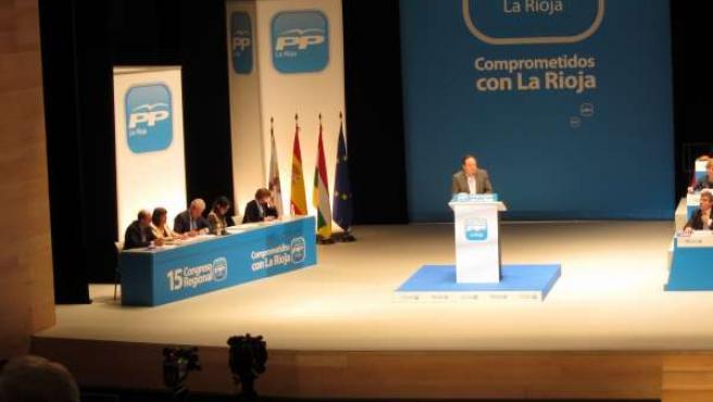 Pedro Sanz, Durante La Clausura Del 15º Congreso Regional Del PP