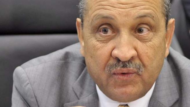 El ministro de Petróleo libio Shukri Ghanem en 2010 antes de una conferencia del OPEP en Viena, Austria.