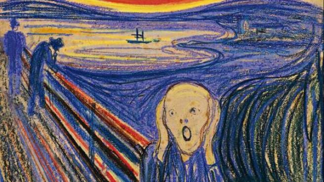 La obra El grito, del noruego Edvard Munch.