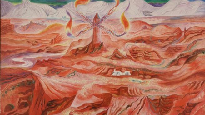 'Sierra aragonesa', uno de los cuadros de André Masson que se exponen en Nueva York