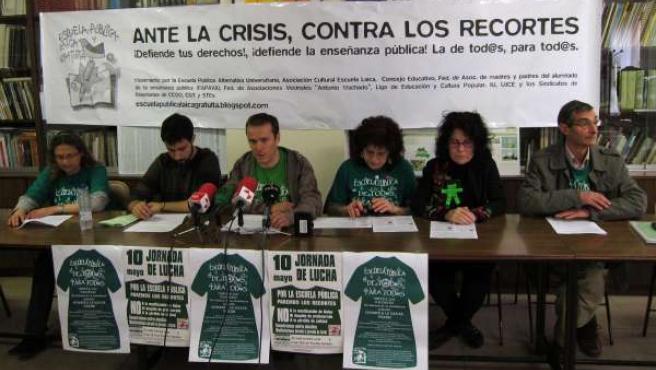 Rueda De Prensa Del Movimiento Por La Escuela Pública