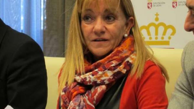 En La Imagen, La Presidenta De La Diputación De León, Isabel Carrasco