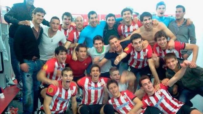El Athletic Celebra En El Vestuario El Pase A La Final De La Europa League