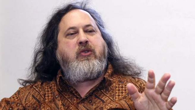 El fundador del Movimiento de Software Libre, de la Free Software Fundation (FSF) y del proyecto GNU, Richard Stallman.
