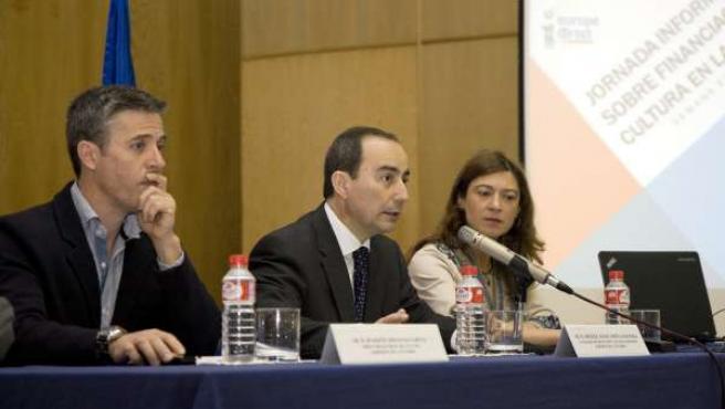 Miguel Ángel Serna, Joaquín Solanas E Inmaculada Valencia En Jornadas UE