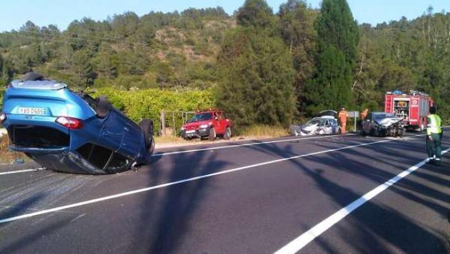 Coches Siniestrados En El Accidente De Alzira