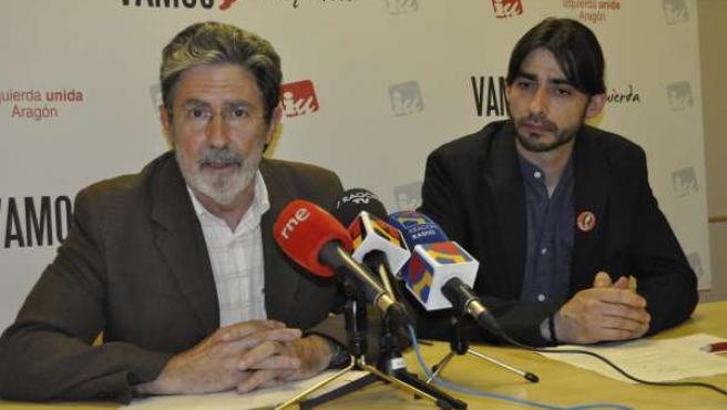 Adolfo Barrena Y Álvaro Sanz, De IU-Aragón.
