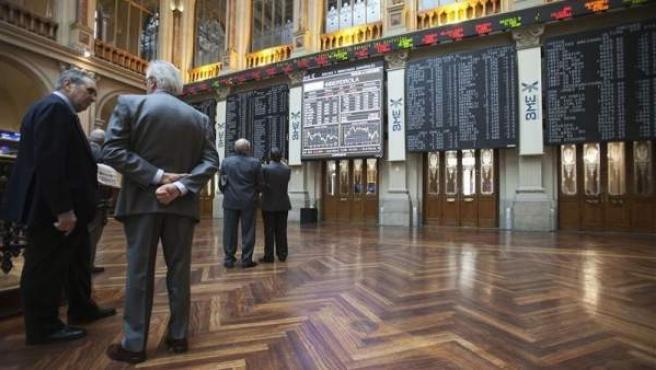 Imagen de archivo del interior de la Bolsa de Madrid.