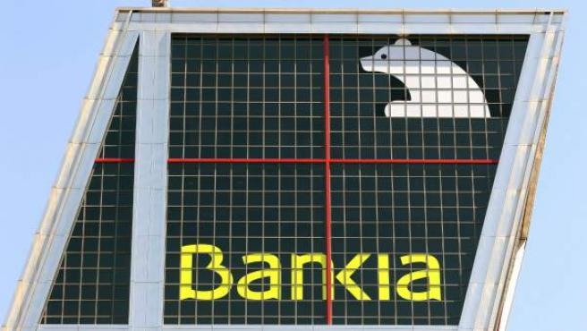 Vista de la sede central de Bankia en Madrid.