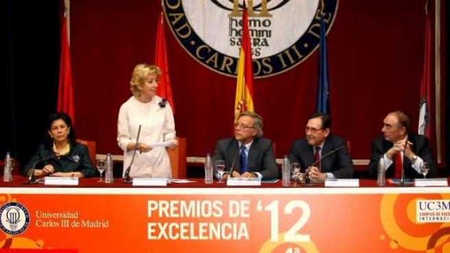 Aguirre, durante la entrega de los Premios de Excelencia de la Universidad Carlos III.