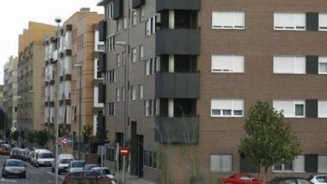 Edificios de viviendas en nuevos desarrollos urbanos.