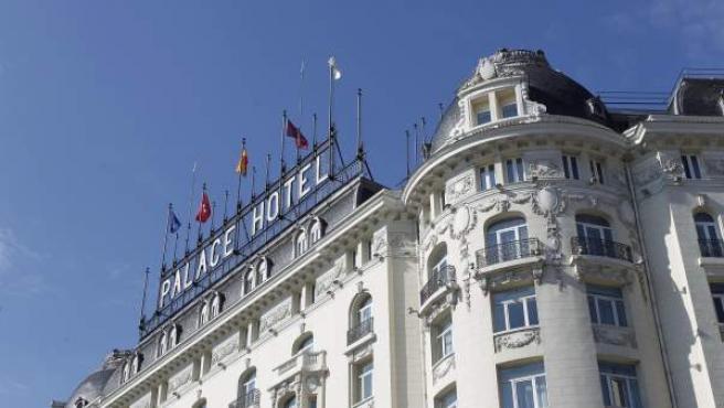 Fachada del Hotel Palace de Madrid.