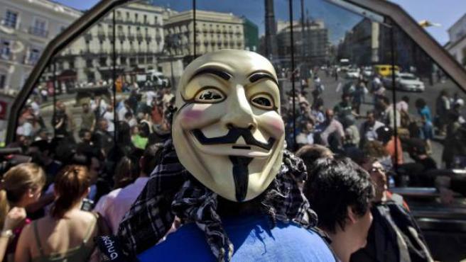 Los indignados vuelven el #14mMad a concentrarse en la madrileña Puerta del Sol para conmemorar el primer aniversario del 15-M.