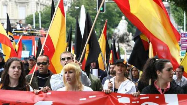 Imagen de archivo de una manifestación ultraderechista