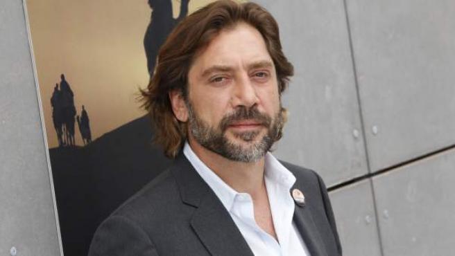 El actor Javier Bardem, durante la presentación de 'Hijos de las nubes'.