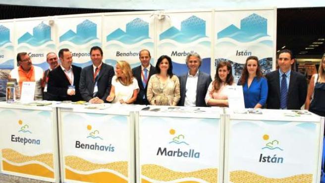Margarita del Cid presidenta Mancomunidad Occidental en feria turismo