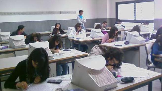 Imagen de archivo de una clase en un centro de enseñanza secundaria.