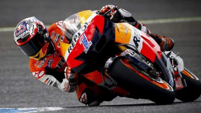 Casey Stoner, campeón del Mundo de MotoGP.