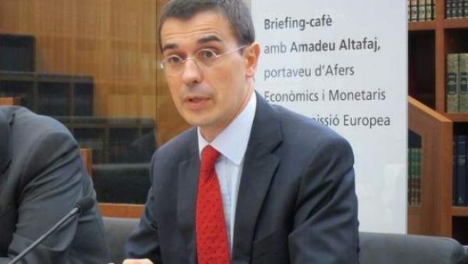El portavoz de Asuntos Económicos y Monetarios de la Comisión Europea, Amadeu Altafaj.