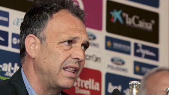 Joaquín Caparrós, técnico del Mallorca, durante una rueda de prensa.