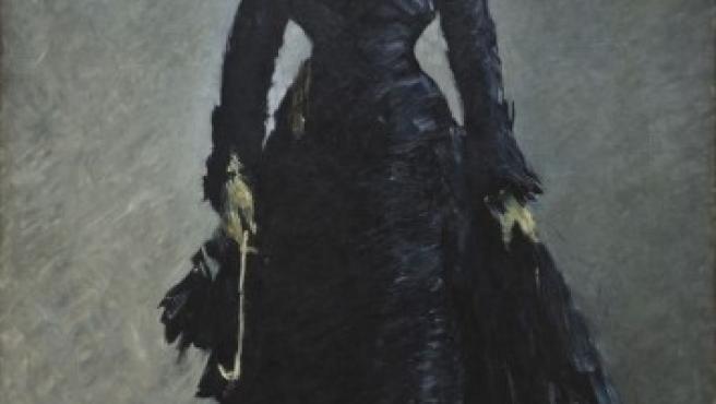 Óleo de Manet realizado en torno a 1876, que muestra a la actriz Ellen André a la última moda de París