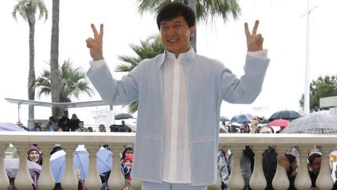 Jackie Chan en el Festival de Cannes.