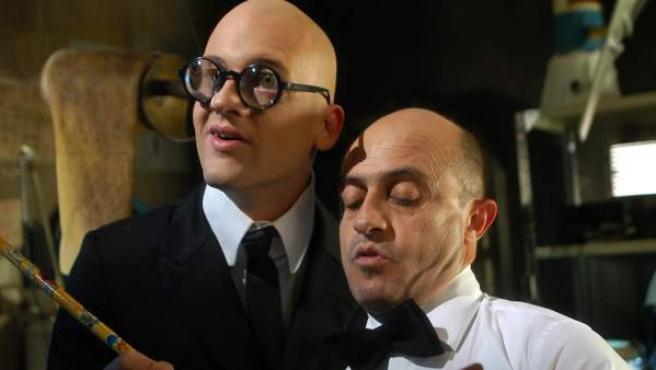Pepe Viyuela y Eduard Soto, en la última entrega de 'Mortadelo y Filemón'.