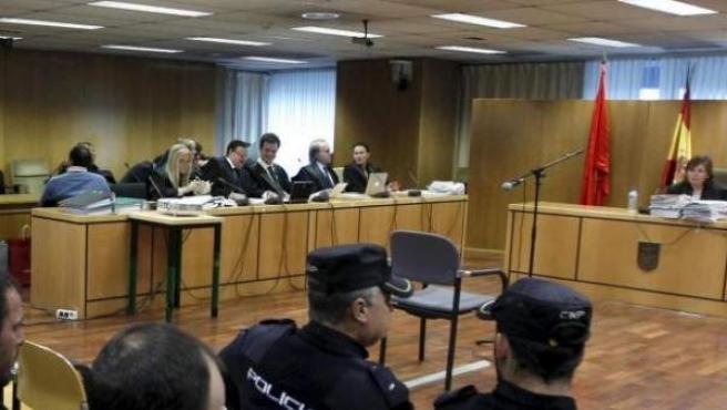 Imagen de archivo de un juicio en la Audiencia Provincial de Madrid.