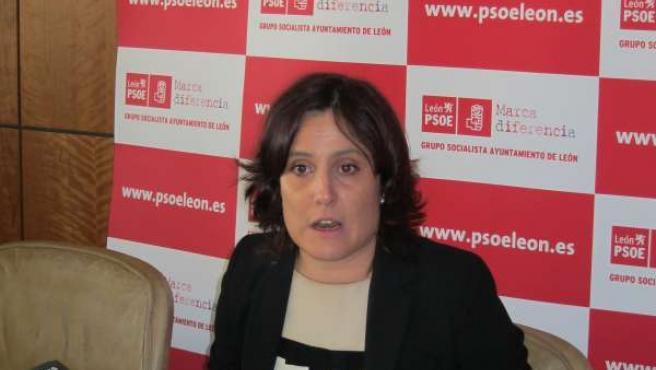 La Portavoz Del Grupo Socialista En El Ayuntamiento De León, María Rodríguez