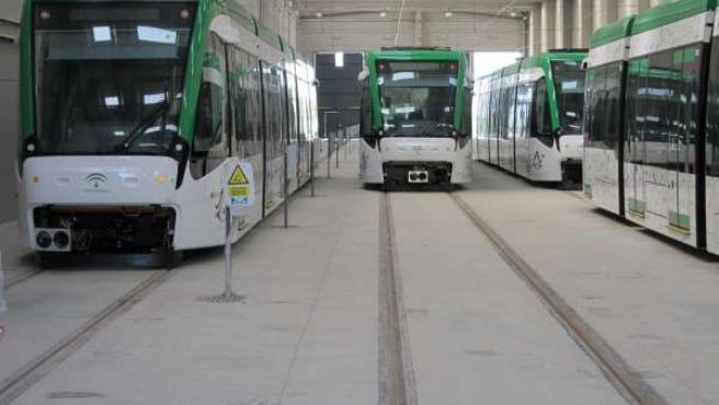Unidades del metro de Málaga transporte suburbano metropolitano
