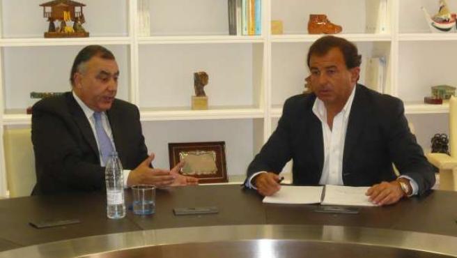 El Conselleiro Javier Guerra Y El Fiscal Superior De Galicia, Carlos Varela