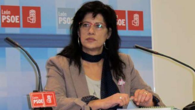 La Presidenta De La Gestora Del PSOE De León, Teresa Gutiérrez.
