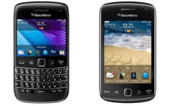 BlackBerry Bold 9790 y BlackBerry Curve 9380.