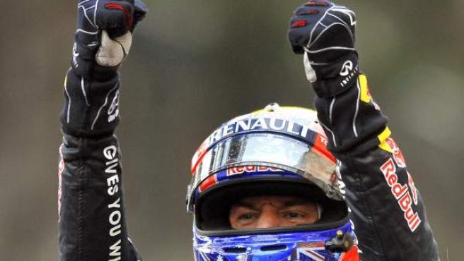 Webber, tras la victoria en Mónaco.