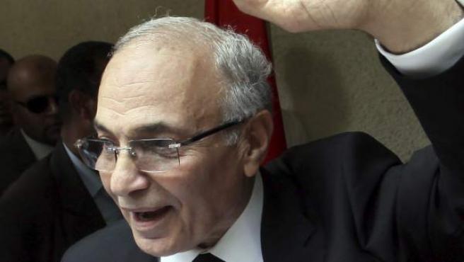 Fotografía del candidato a la presidencia de Egipto Ahmed Shafiq durante un mitin en El Cairo, Egipto.