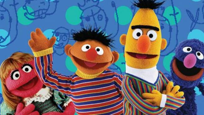 Varios de los personajes de 'Barrio Sésamo'.