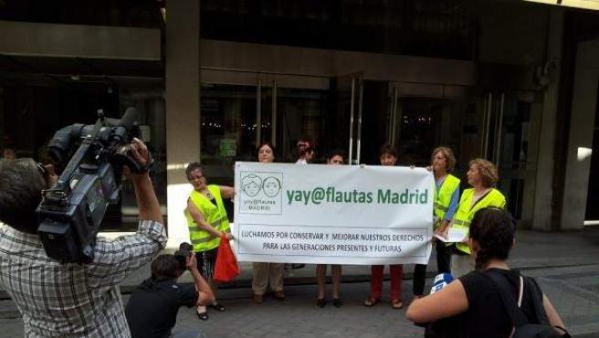 La protesta de los yayoflautas en Madrid.