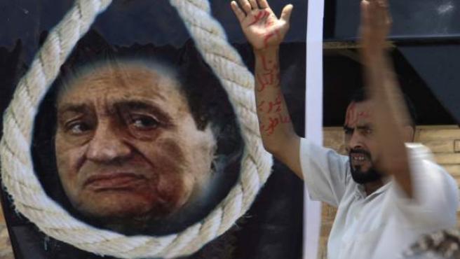 Manifestaciones contra Hosni Mubarak en Egipto.