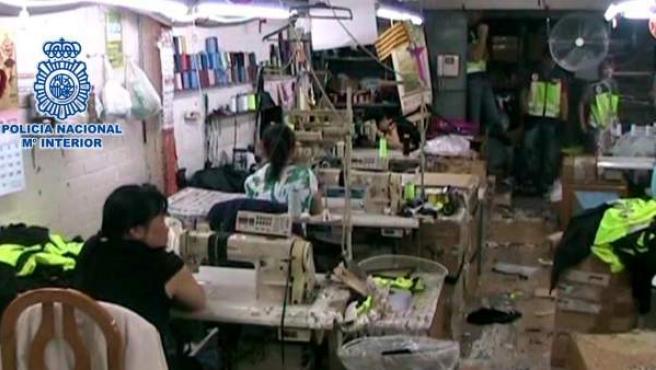 Talleres textiles ilegales donde explotaban a ciudadanos chinos.