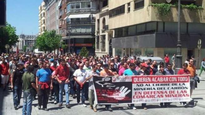 Manifestación Minera En León