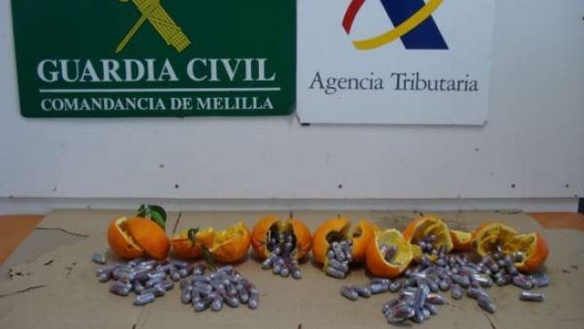Droga Intervenida En Naranjas