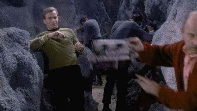Una imagen del rodaje de 'Star Trek 2'.